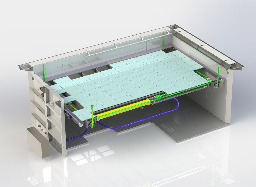 Movable Swimming Pool Floors For Rehabilitation Pools In Medical Sector