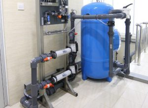 Water treatment plant for pool